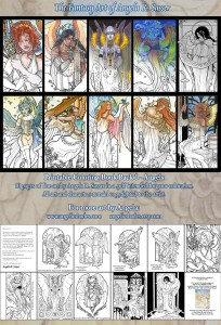 Coloring Book Pack - Fantasy Angels Series I